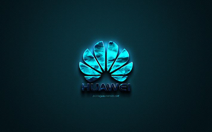 Scarica Sfondi Huawei Logo Blu Creative Blu Arte Huawei Emblema