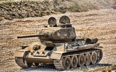 T-34, soviet heavy tank, World War II, Soviet Army, HDR, artwork, tanks