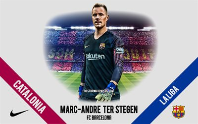 Marc-Andre ter Stegen, FC Barcelona, German footballer, goalkeeper, Camp Nou, La Liga, Spain, football, Catalonia, Barcelona