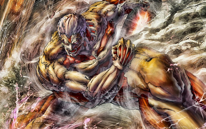 Download Wallpapers Armored Titan 4k Attack On Titan Artwork Nine Titans Manga Yoroi No Kyojin Shingeki No Kyojin Attack On Titan Characters For Desktop Free Pictures For Desktop Free