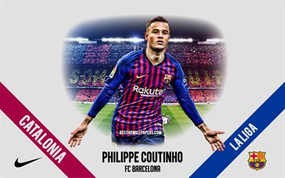 Philippe Coutinho, FC Barcelona, Brazilian footballer, midfielder, Camp Nou, La Liga, Spain, football, Catalonia, Barcelona, Coutinho