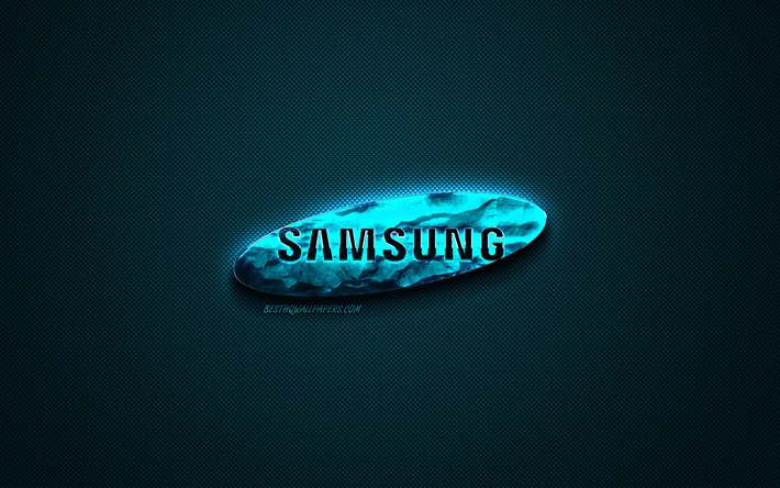 Download Wallpapers Samsung Blue Logo Creative Blue Art Samsung Emblem Dark Blue Background Samsung Logo Brands For Desktop Free Pictures For Desktop Free