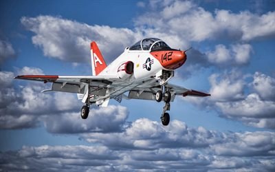 Boeing T-45 Goshawk, American Training Aircraft, US Navy, T-45C Goshawk, airplane in the sky, military aircraft, United States Navy