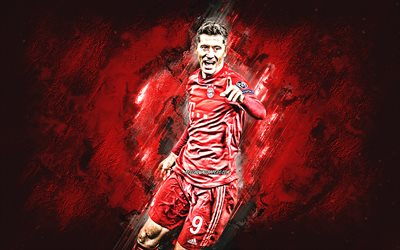 Robert Lewandowski, Bayern Munich FC, portrait, Polish footballer, Bundesliga, Germany, football, soccer stars, Bayern Munich