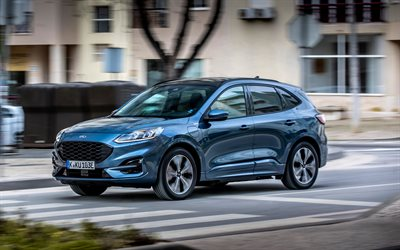 Ford Kuga ST-Line X Plug-In Hybrid, 4k, street, 2020 cars, EU-spec, crossovers, 2020 Ford Kuga, Ford