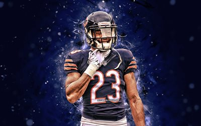 kyle fuller, 4k, nfl, chicago bears, american football, cornerback, kyle brandon fuller, national football league, neon lichter, kyle fuller 4k