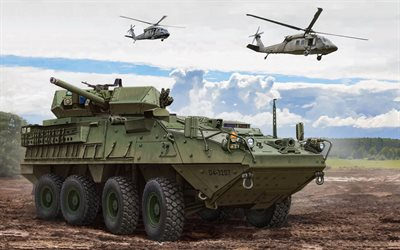Stryker, IFV, M1296 Stryker Dragoon, Infantry fighting vehicle, US Army, infantry, armored cars