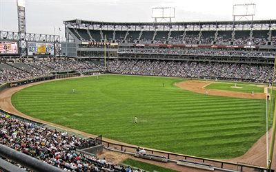 Garantito Tasso di Campo, baseball park, Chicago White Sox di Chicago, Illinois, USA, Major League di Baseball, Chicago White Sox, stadio di baseball
