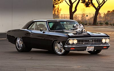 chevrolet chevelle ss tuning, 1968 cars, muscle cars, hot rod, retro cars, 1968 chevrolet chevelle, american cars, chevrolet