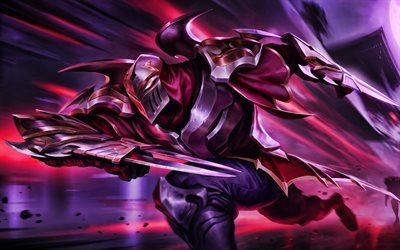 Zed, MOBA, guerreiros, League of Legends, Jogos de 2020, Lendas de Runeterra, obras de arte, Zed League of Legends