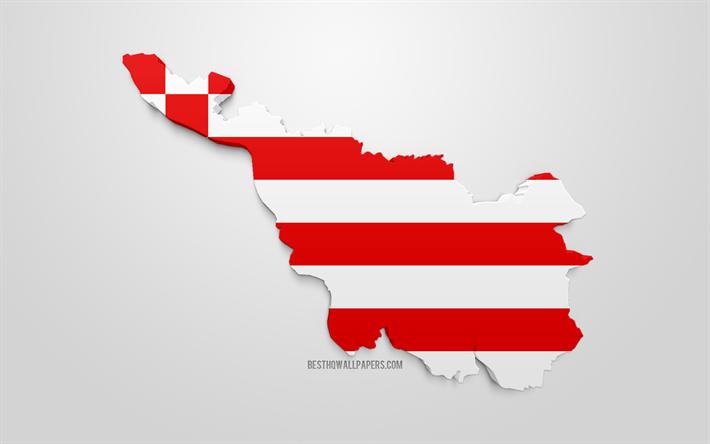 Lataa Kuva Bremenin Kartta Siluetti 3d Lippu Bremen Osavaltion