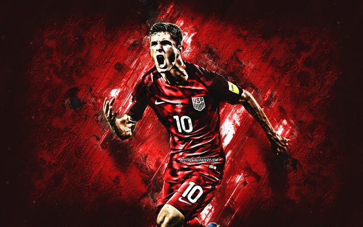 Download Wallpapers Christian Pulisic, USA National