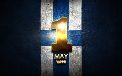 Vappu, May 1, golden signs, Finnish national holidays, Finland Public Holidays, Finland, Europe, Saint Walpurgis Day