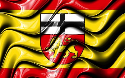Bonn Flag, 4k, Cities of Germany, Europe, Flag of Bonn, 3D art, Bonn, German cities, Bonn 3D flag, Germany