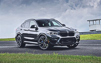 4k, BMW X4, raceway, G02, 2019 cars, new X4, german cars, 2019 BMW X4, gray X4, BMW