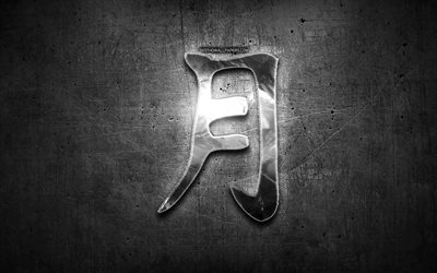 Moon Kanji hieroglyph, silver symbols, japanese hieroglyphs, Kanji, Japanese Symbol for Moon, metal hieroglyphs, Moon Japanese character, black metal background, Moon Japanese Symbol
