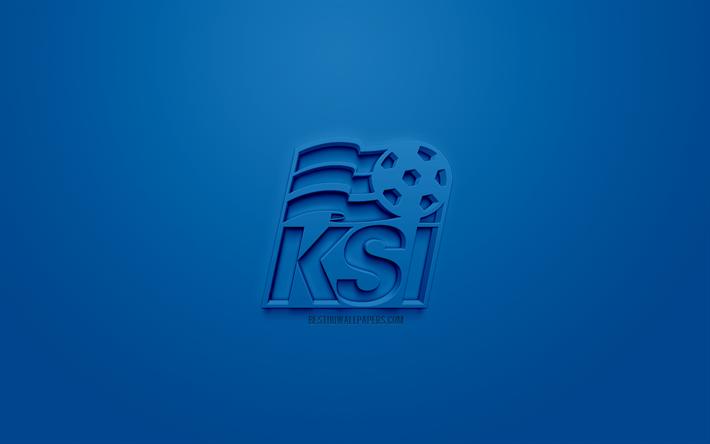 Scarica Sfondi Islanda Squadra Nazionale Di Calcio Creativo Logo 3d