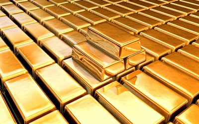 gold bullion, bugging concepts, bank, gold reserve, gold