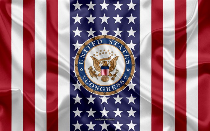 Seal of the United States Congress, American Flag, United States Congress logo, Congress, Emblem of United States Congress