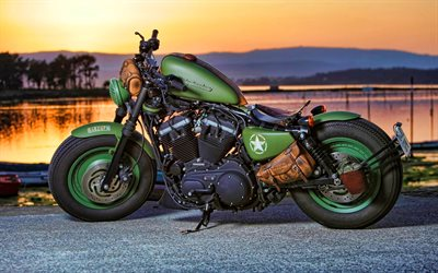 Harley-Davidson Sportster Forty-Eight, tuning, 2020 bikes, american motorcycles, superbikes, Harley-Davidson