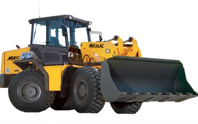 Mecalac AS 210e, Wheel loader, construction machinery, loader, heavy machinery, Mecalac