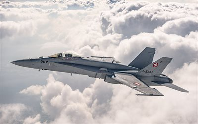 McDonnell Douglas FA-18 Hornet, fighter-bomber, Swiss Air Force, FA-18 Hornet, Swiss Armed Forces, Military aircraft