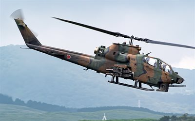 Bell AH-1 Super Cobra, AH-1S, american attack helicopter, Japan Ground Self-Defense Force, JGSDF, Bell Helicopter, japanese military helicopters