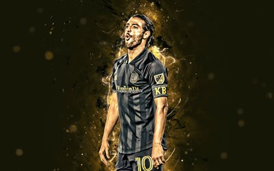 Carlos Vela, 4k, 2020, MLS, Los Angeles FC, mexican footballers, soccer, football, Carlos Alberto Vela Garrido, brown neon lights, creative, Carlos Vela 4K