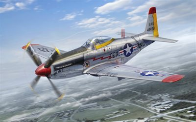 North American P-51 Mustang, American fighter, US Air Force, World War II, USAF, P-51H