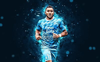 Dimitri Payet, 4k, 2020, Olympique Marseille FC, soccer, french footballers, Ligue 1, Florent Dimitri Payet, football, neon lights, Dimitri Payet 4K