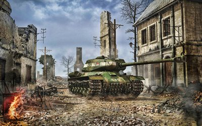 T-34, WoT, artwork, tanks, online games, World of Tanks, battle, Soviet tanks