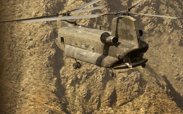 Boeing CH-47 Chinook, United States Army, heavy-lift helicopter, American military helicopter, military transport helicopter