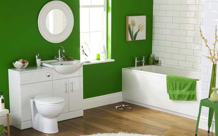 scarica sfondi bagni, eclettico interni, interni moderni, bagno ... - Bagni Moderni Verdi