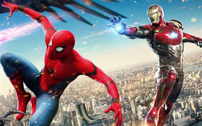 Spider-Man Homecoming, 2017, Iron Man, Spiderman, poster, new movies