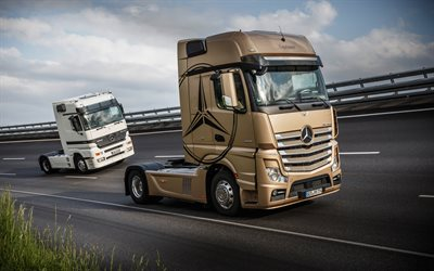 Mercedes-Benz Actros, Evolution, German trucks, autobahn, trucking, Mercedes