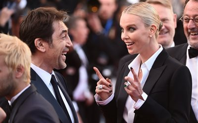 charlize theron, spanish actor, 2016, american actress, cannes, javier bardem, film festival