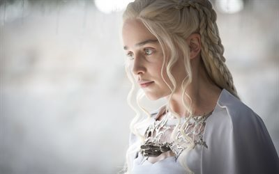 british actress, emilia clarke, game of thrones, series, daenerys targaryen