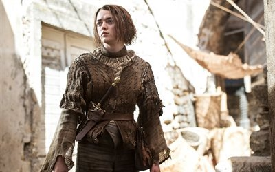 british actress, game of thrones, maisie williams, series, arya stark