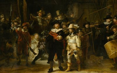 night watch, 1642, dutch artist