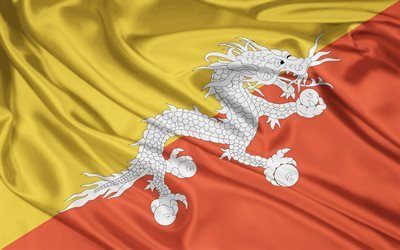 flag, dragon, kingdom of bhutan