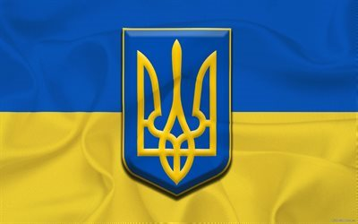 trident, coat of arms of ukraine, ukrainian flag, flag of ukraine