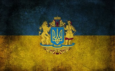 ukraine, flag of ukraine, ukrainian flag, coat of arms