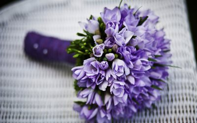 purple bouquet, a bouquet of flowers, wedding bouquet, spring bouquet