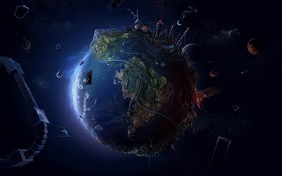 globe, creative, planet, 3d land, space