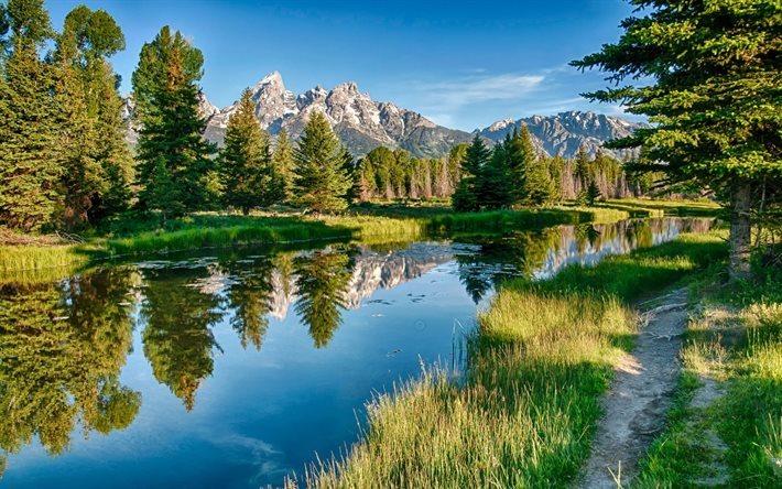 Scarica sfondi montagne fiume estate paesaggio di for Paesaggi naturali hd
