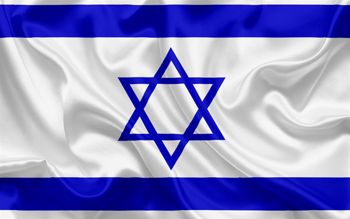 Download Wallpapers Israeli Flag Israel East National Symbols