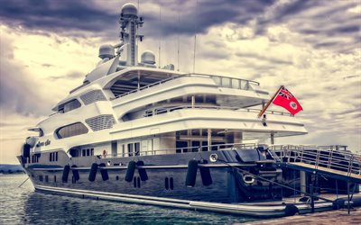 Martha Ann, 4k, superyacht, dock, luxury yacht, pier, Lurssen
