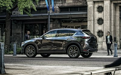 2019, Mazda CX-5, exterior, rear view, new gray CX-5, gray crossover, japanese cars, Mazda