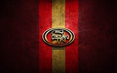 Download wallpapers San Francisco 49ers golden logo NFL