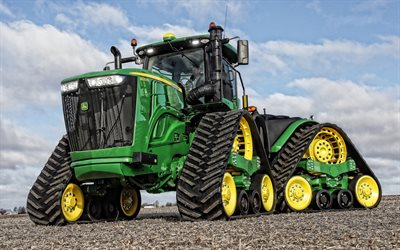 John Deere 9520RX, crawler tractor, agricultural machinery, harvesting concepts, tractors, John Deere
